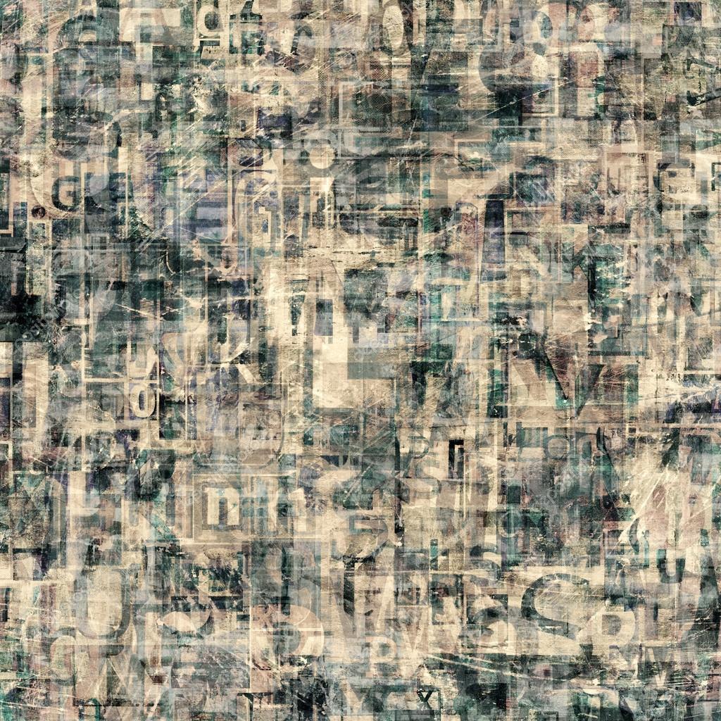 Favori de collage de grunge, magazine lettres sur papier déchiré peinte  ZJ92