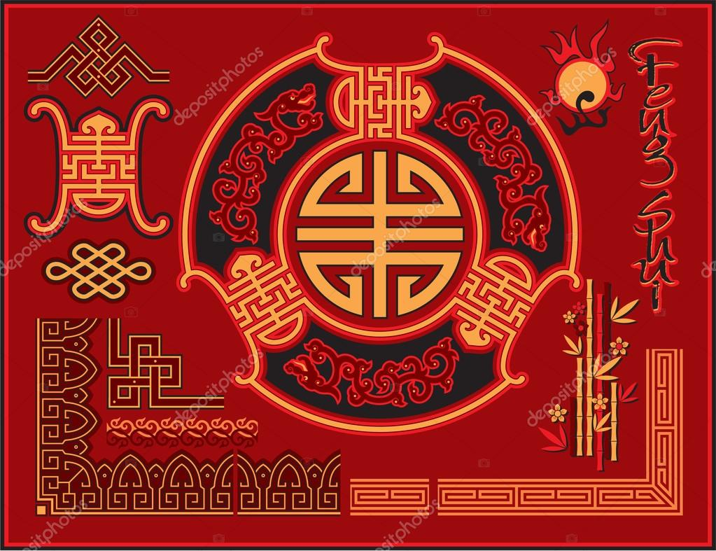 Set of Chinese Design Elements