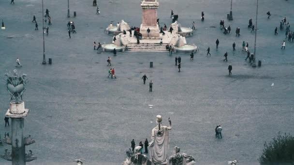 Řím pohled z Pincio: Piazza del Popolo