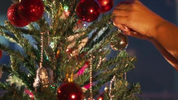 Blinking Garland. Christmas Tree Lights Twinkling. Christmas and New Year Decoration.
