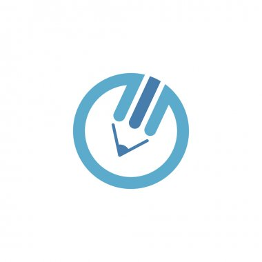 Blue pencil logo