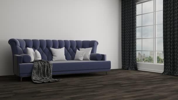 Budování moderní obývací pokoj
