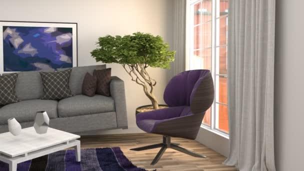 Kiépítése Modern nappali