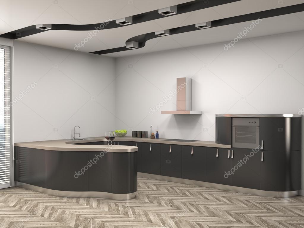 keuken interieur 3d illustratie stockfoto stockernumber2 111258820. Black Bedroom Furniture Sets. Home Design Ideas