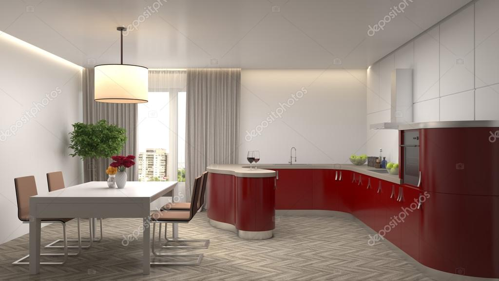 Küche Interieur. 3D-Illustration — Stockfoto © StockerNumber2 #111258896