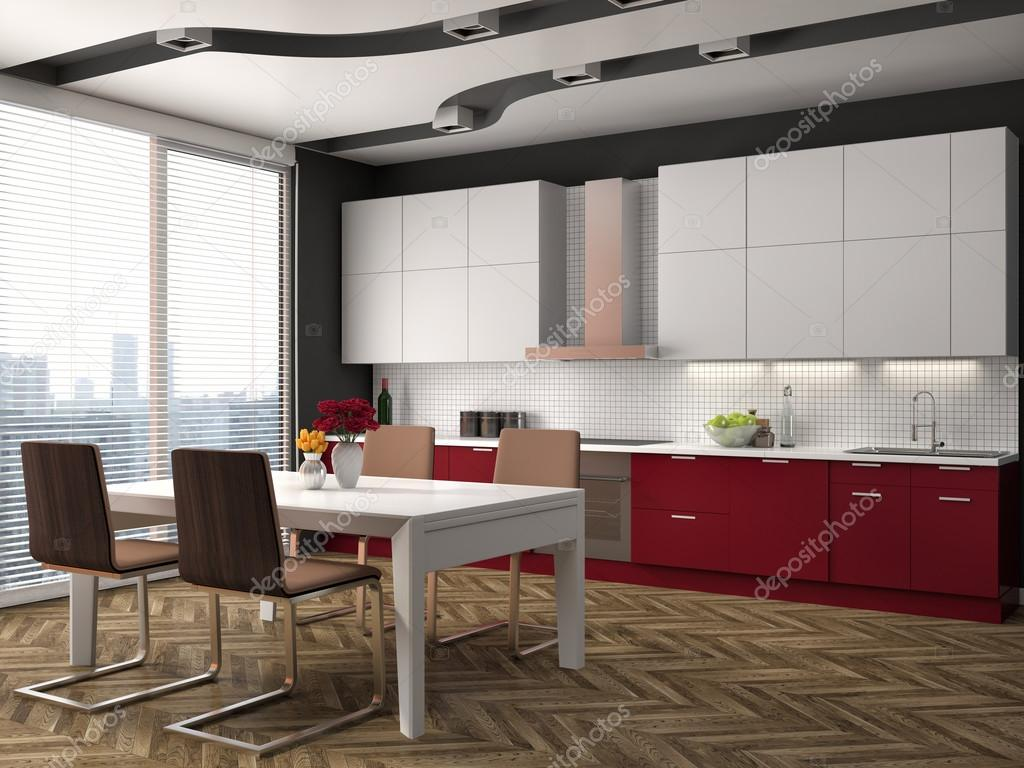 Küche Interieur. 3D-Illustration — Stockfoto © StockerNumber2 #111260550