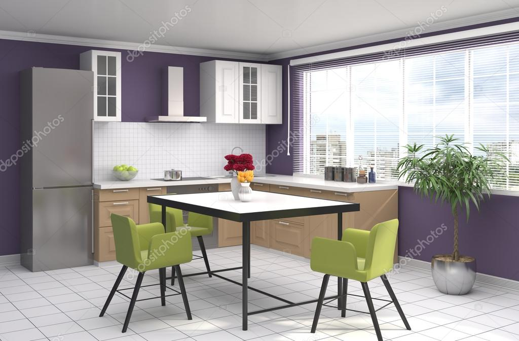 Küche Interieur. 3D-Illustration — Stockfoto © StockerNumber2 #113017064