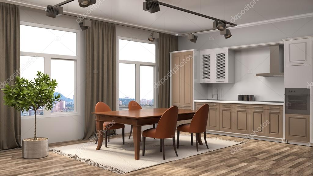 Küche Interieur. 3D-Illustration — Stockfoto © StockerNumber2 #119132788