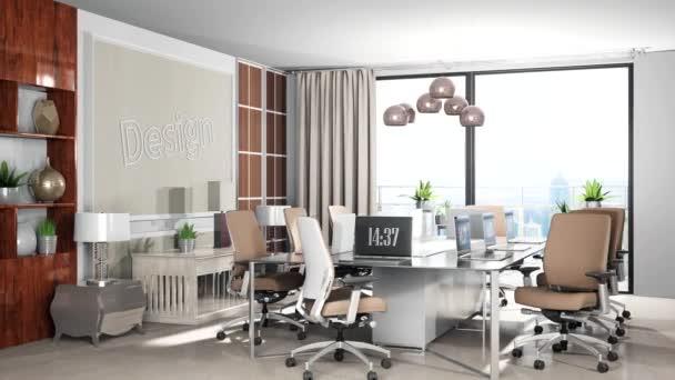 Ilustrace interiéru kanceláře