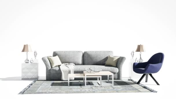 Furniture on a white background. 3d illustration