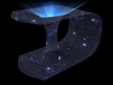 3D representation of a wormhole