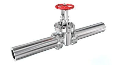 Pipeline with valve