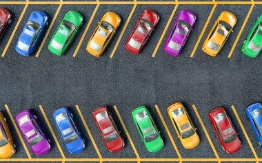Many cars parked