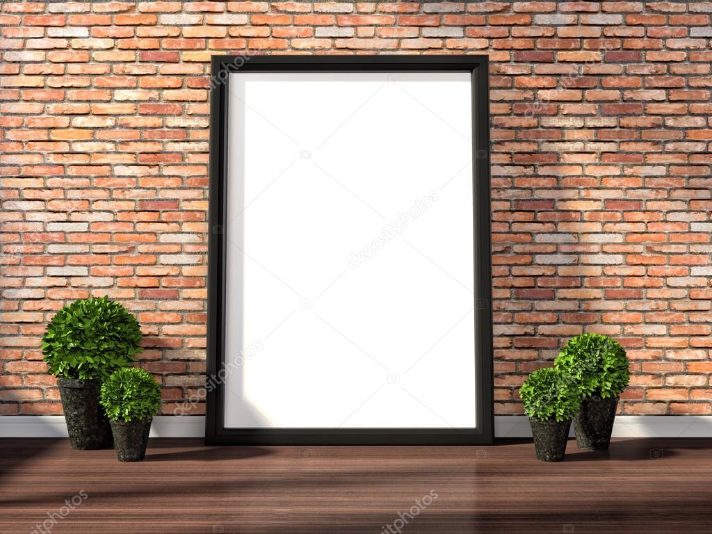 Plakatrahmen Modell und Jahrgang Interieur-Hintergrund Leinwand ...