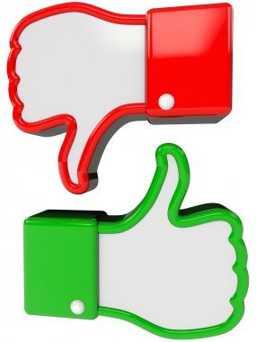 symbol of positive and negative feedback