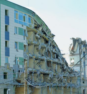 Destroyed Modern Building