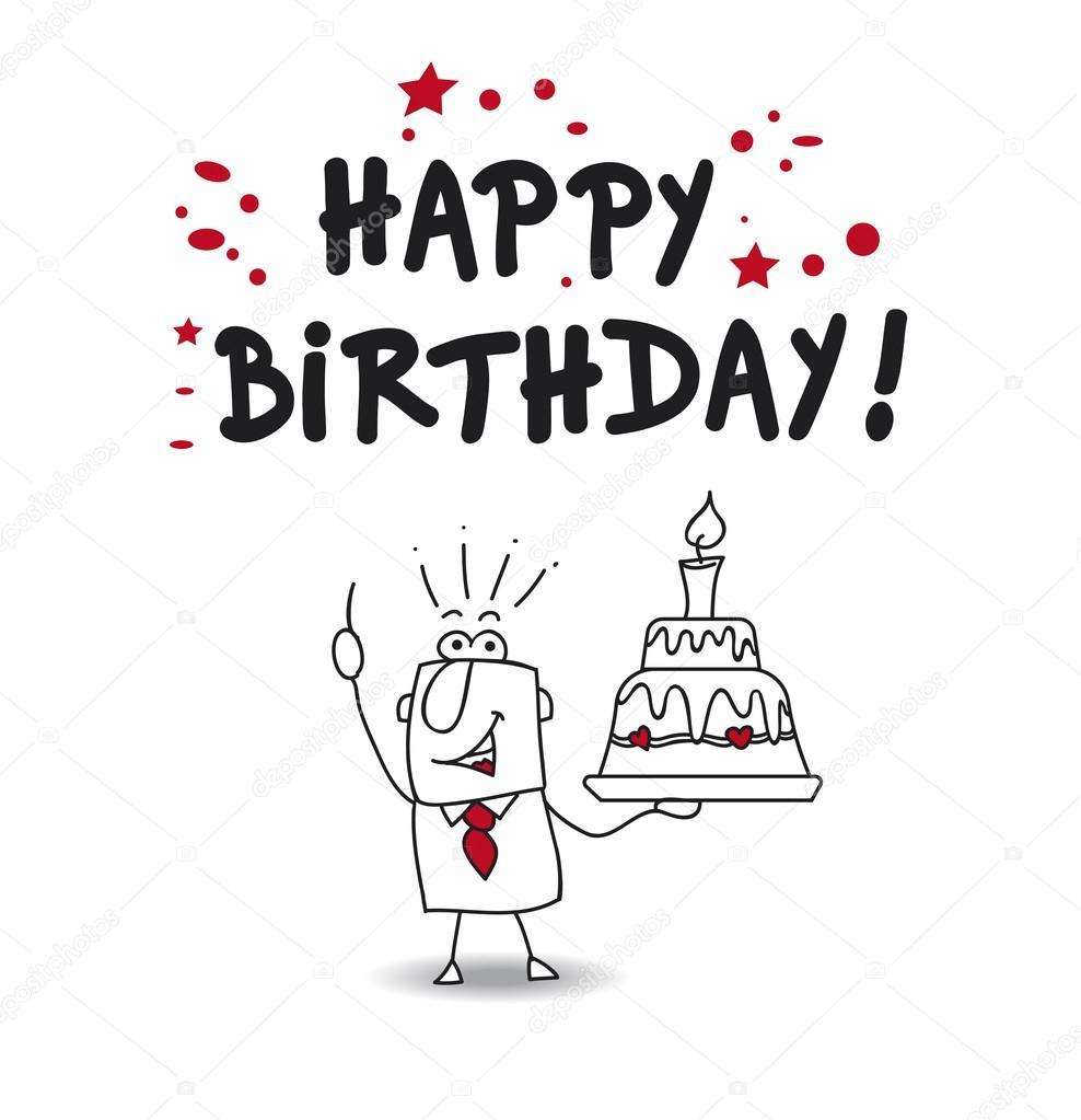 Alles Gute Zum Geburtstag Chef Stockvektor C Tintin75 100096978