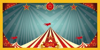 A fun circus banner for an invitation stock vector