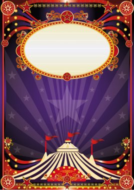 Purple fantastic circus background
