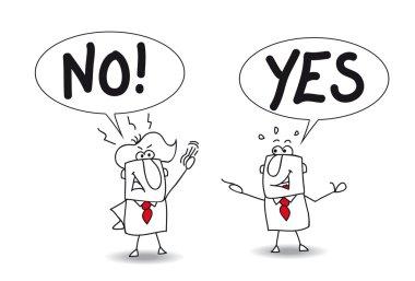 Businessmen disagreement - yes, no