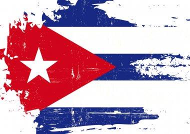 Scratched Cuban Flag