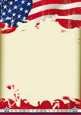 American poster waving flag background