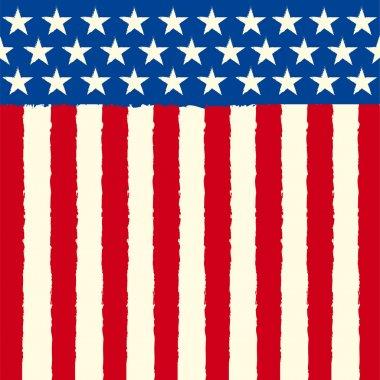American square sketch flag