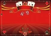 Fotografie Horizontalen roten Casino-Hintergrund