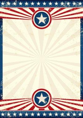 USA grunge star poster