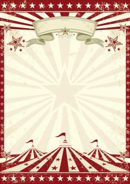 A vintage circus background with sunbeams for your entertainment stock vector