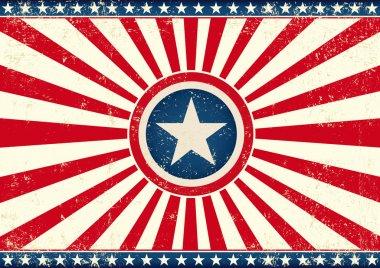 US sunbeams star horizontal flag