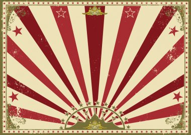 Horizontal poster sunbeams red circus