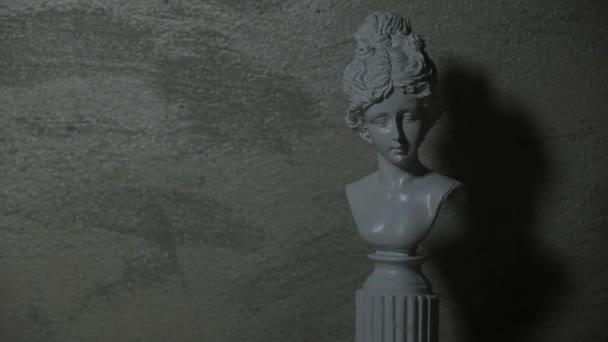 Filmmaterial der Skulptur scharfe Wand Hintergrund