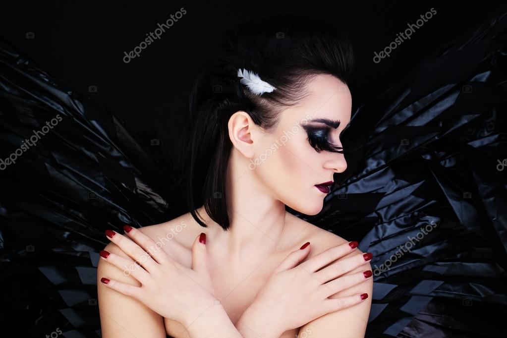 Fantasy Art Lady In Black