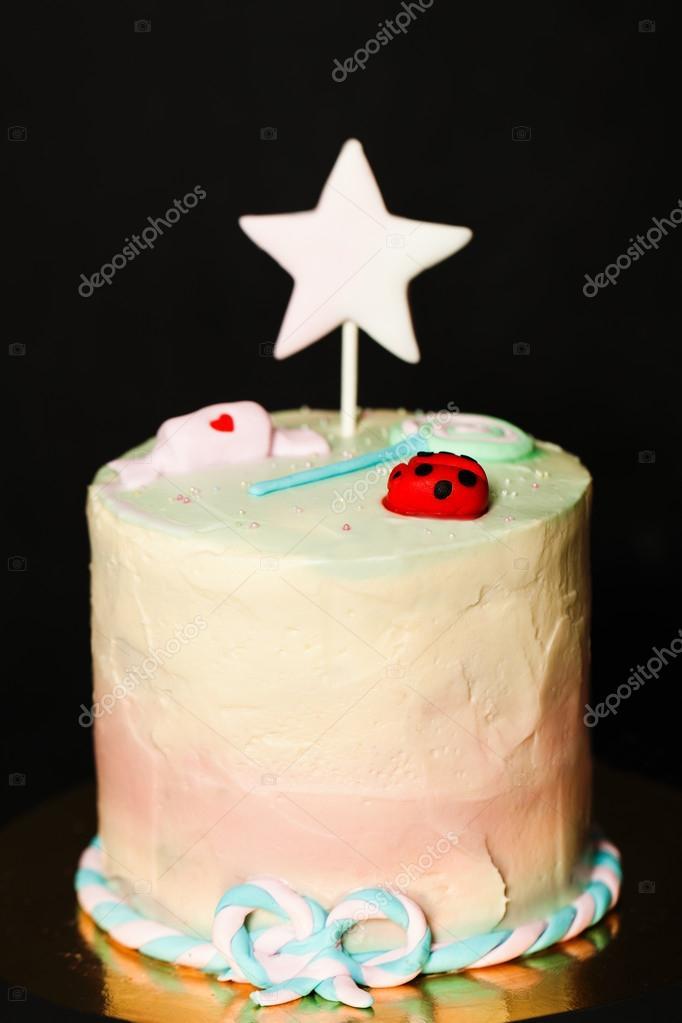 Kuchen Fur Ein Kind Madchen Geburtstagskuchen Stockfoto