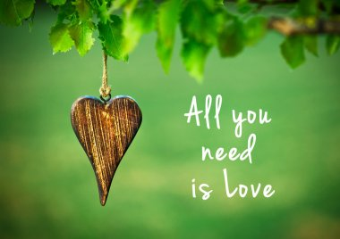 All you need is love - inspirational quote