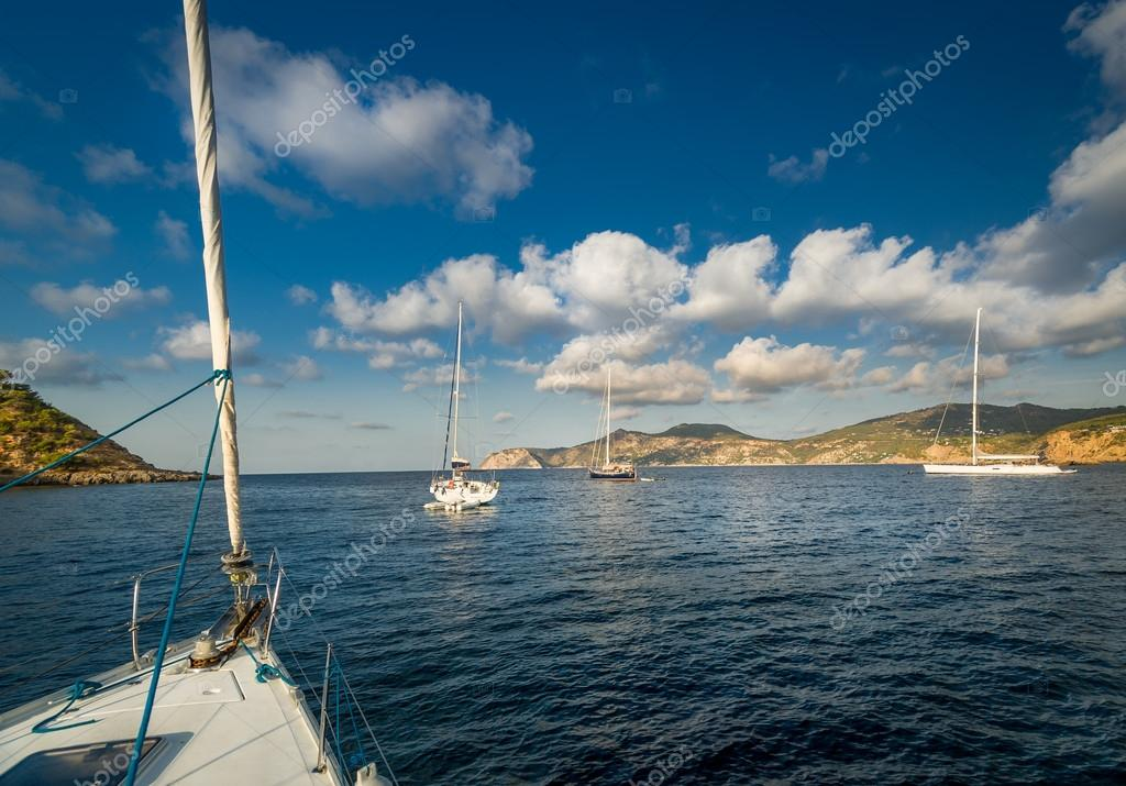 Sailing yachts anchorage