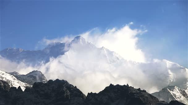 Kangchenjunga s zasněžený vrchol