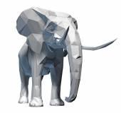 Tváří slon izolované