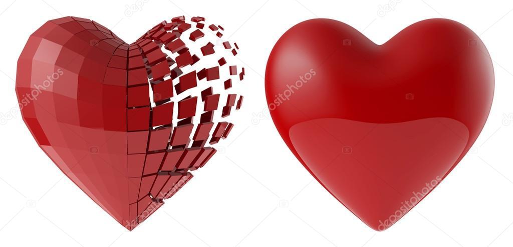 El corazón humano de los segmentos — Foto de stock © vitart #97539538