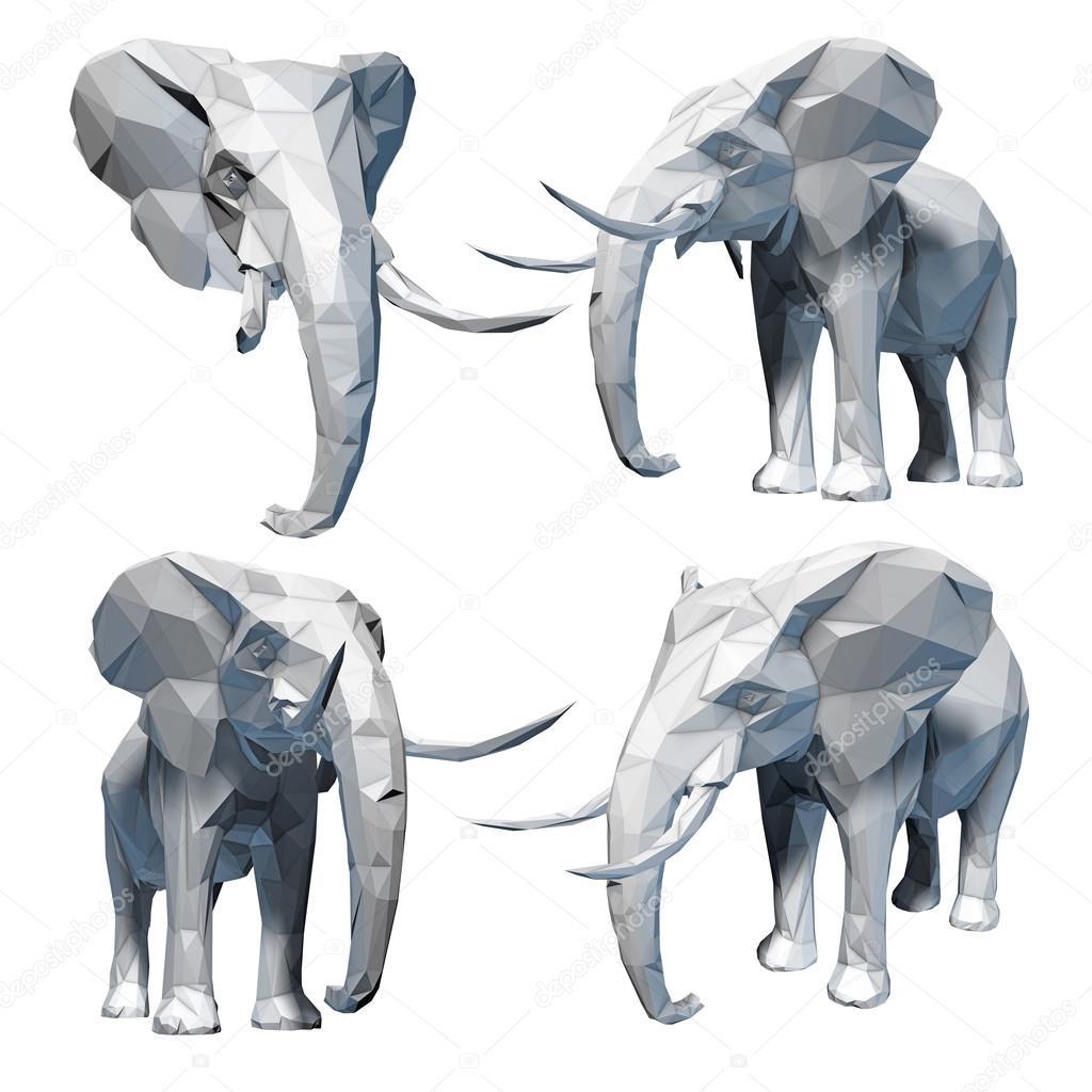 Set de elefante tallado — Fotos de Stock © vitart #98316320