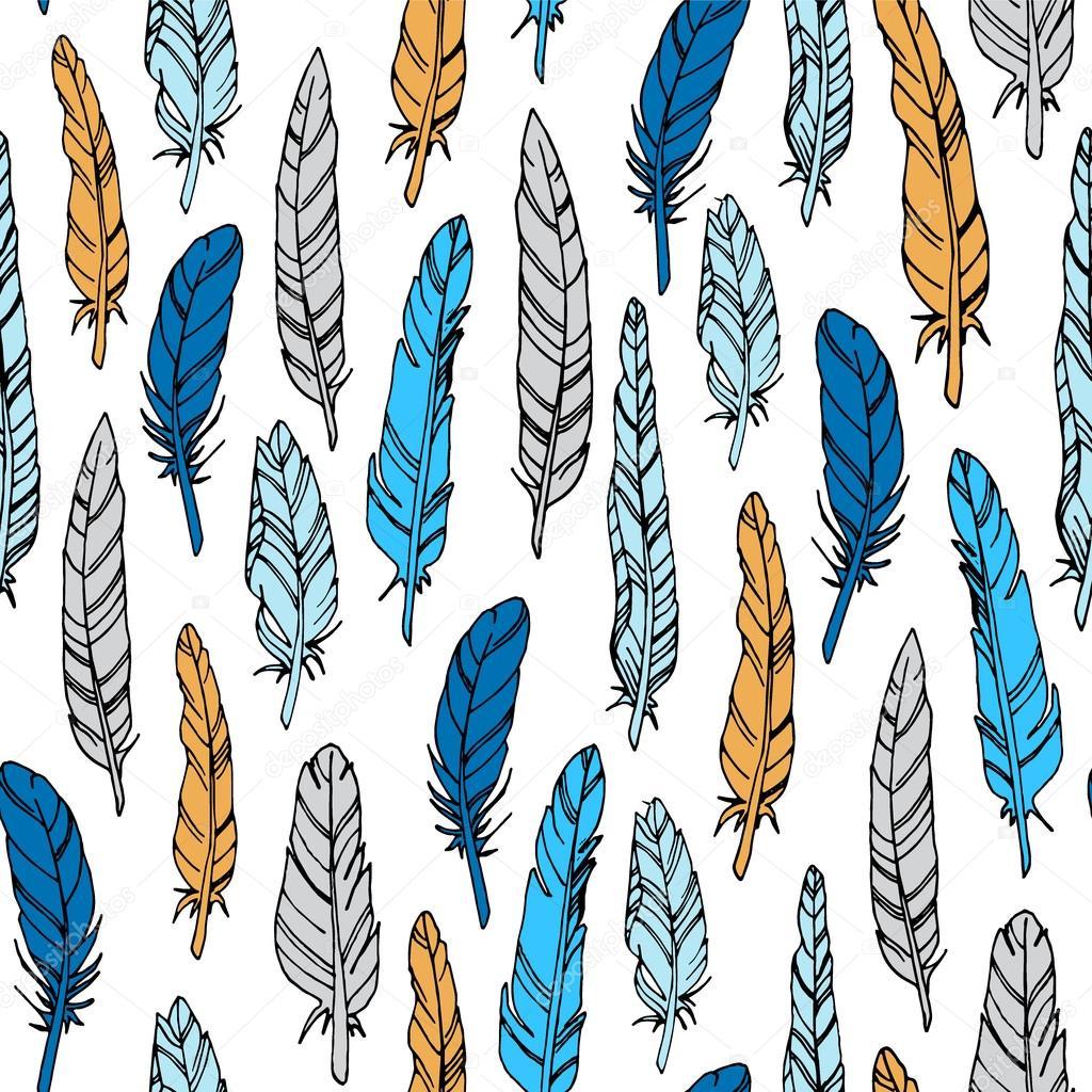 Resumen de vectores de patrones sin fisuras con plumas de ave ...