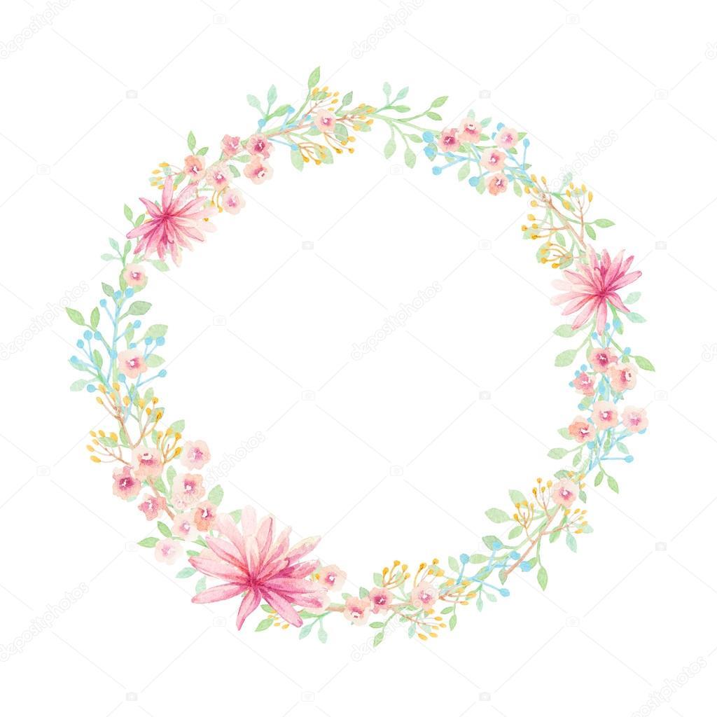 Dessine De Main Couronne De Fleur Aquarelle Photographie Lemuana