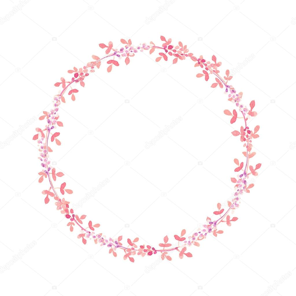 hand drawn watercolor flower wreath stock photo. Black Bedroom Furniture Sets. Home Design Ideas