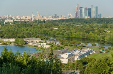 Moscow river floodplain and channel Krylatskoye