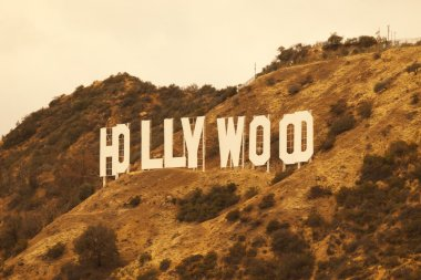 Hollywood California Retro Sign