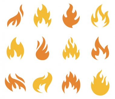 Fire Flame Icons and Symbols