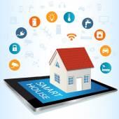 Fotografie TabletPC und Smart House Technologie-System mit zentraler con
