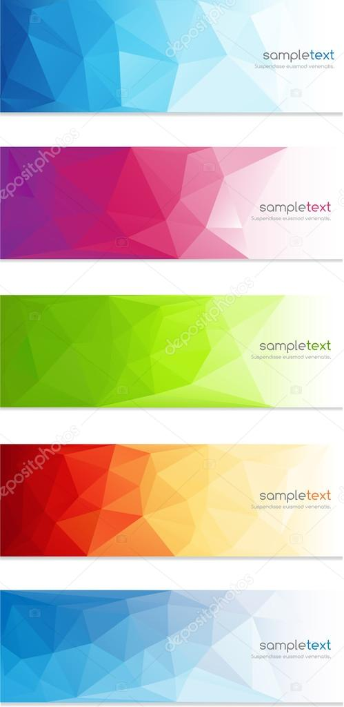 Abstract geometrical banner background