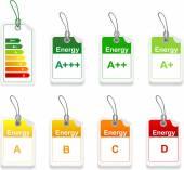 Fotografie Satz von Energie Klasse tag